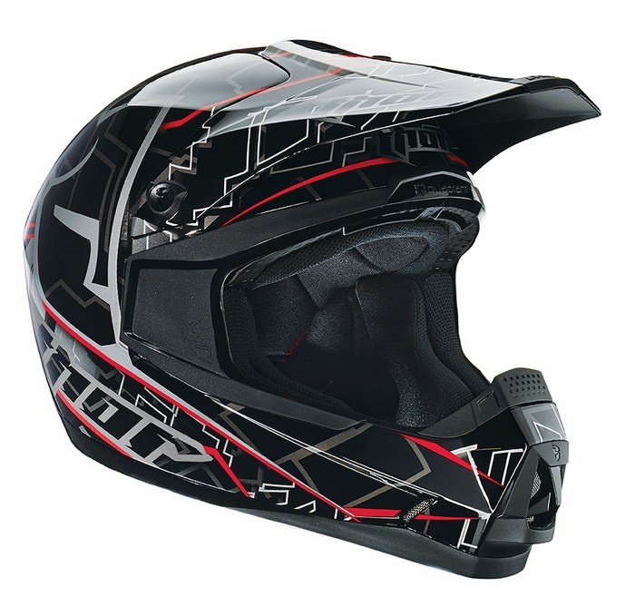 Casco Cross Thor Quadrant Fragment nero