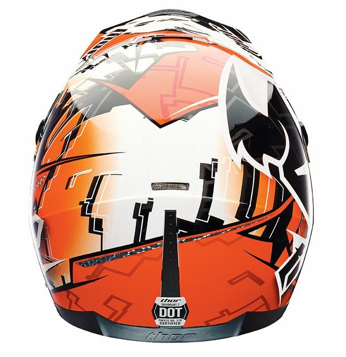 Thor Quadrant Fragment enduro helmet orange
