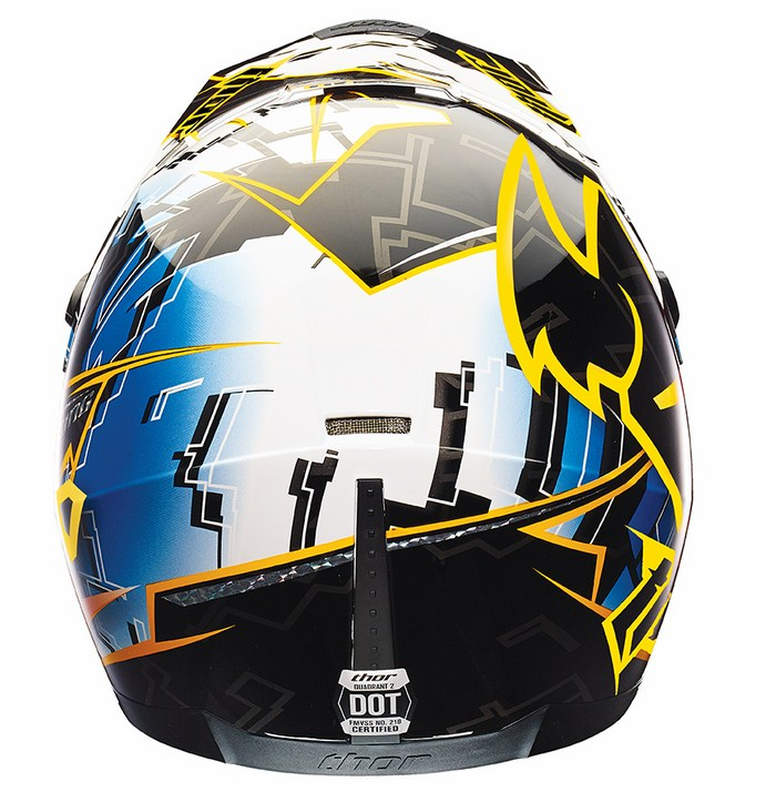 Casco Cross Thor Quadrant Fragment blu giallo nero