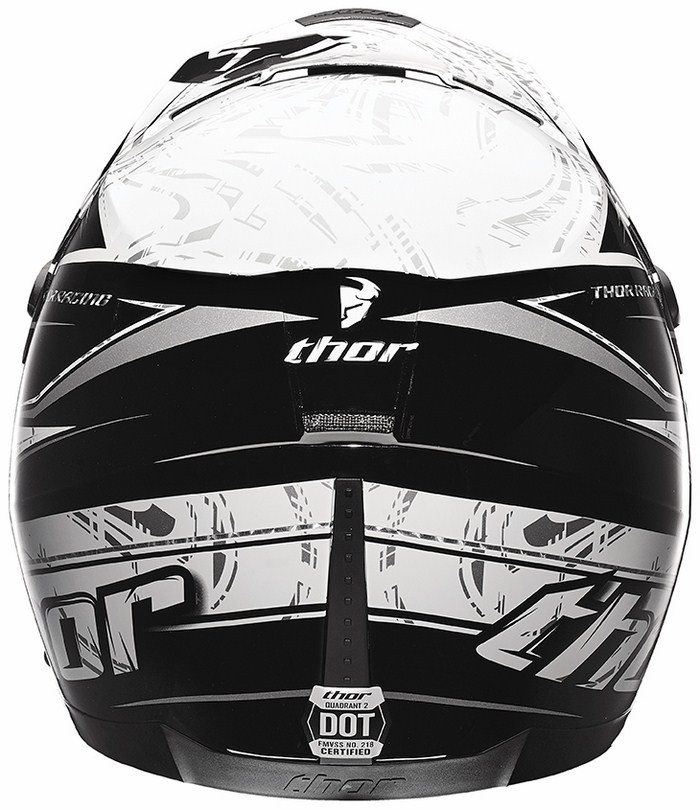 Casco Cross Thor Quadrant Stripe nero