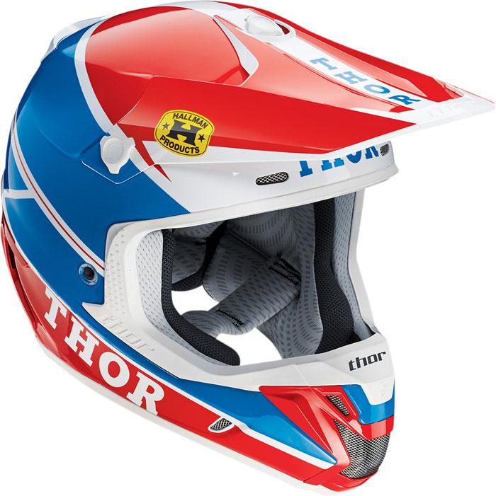 Thor Verge Pro GP cross helmet Blue Red
