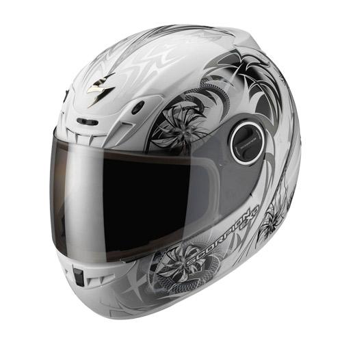 Scorpion Exo 400 Spectral full face helmet White Chameleon