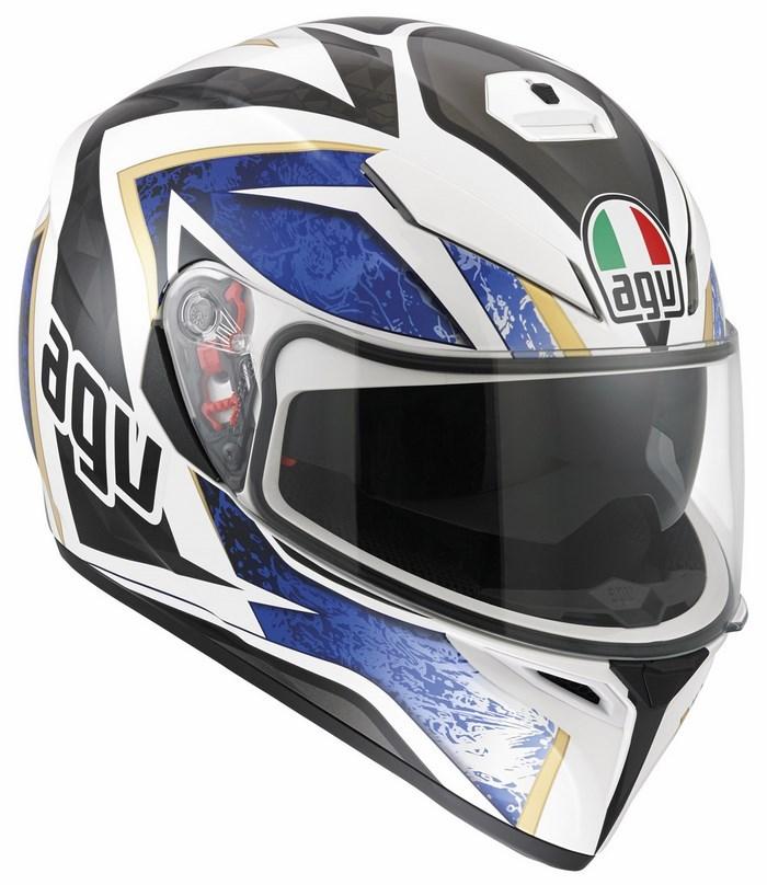 Agv Street Road K-3 SV Multi Vulcan helmet white black blue