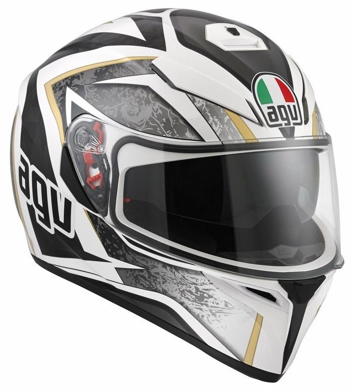 Agv Street Road K-3 SV Multi Vulcan helmet white black gunmetal