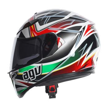 Agv K-3 SV rav full face helmet black white red green