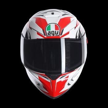 Agv K-3 SV rookie full face helmet white gunmetal red