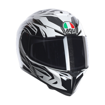Agv K-3 SV rookie full face helmet white gunmetal black