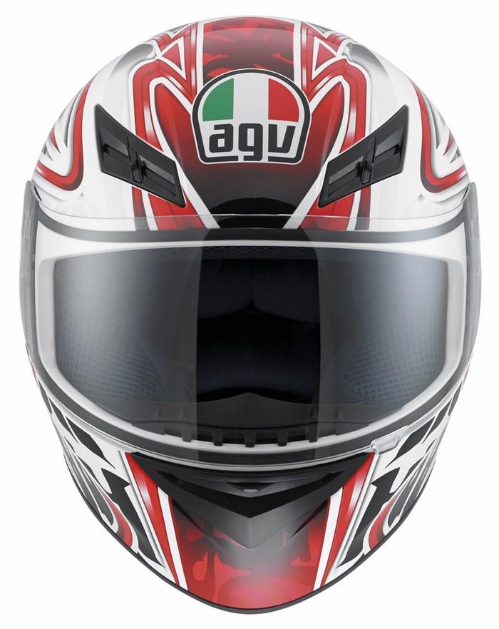 Agv K-3 Multi Wire fullface helmet white red