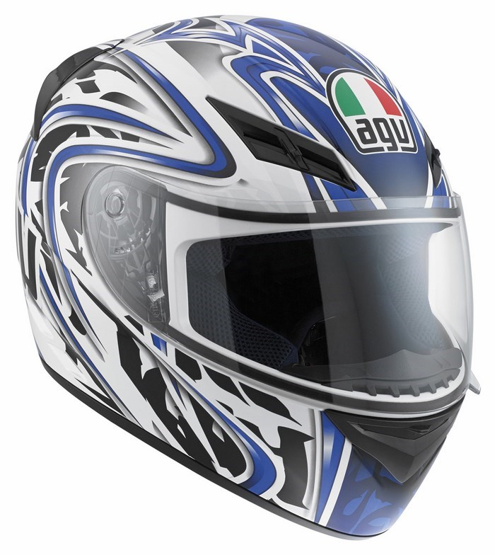 Casco moto Agv K-3 Multi Wire bianco blu