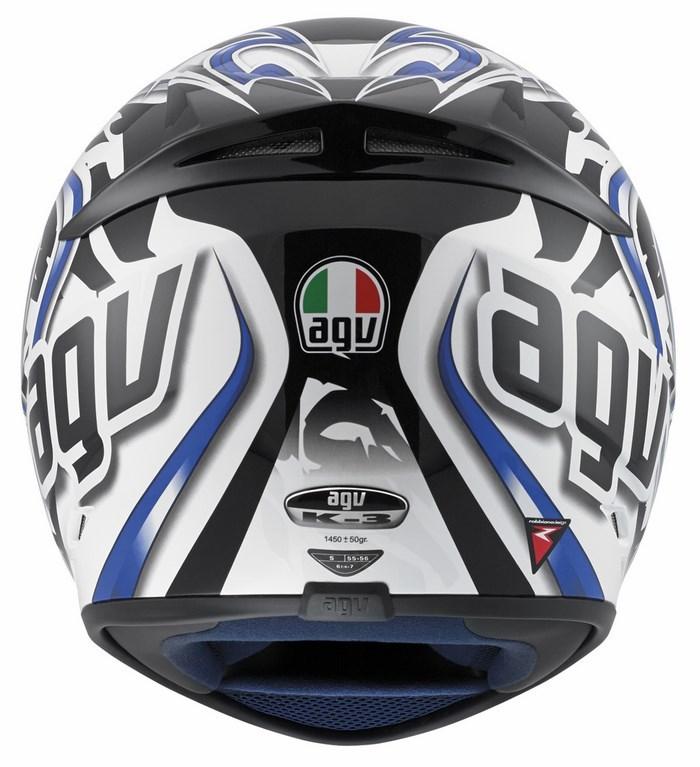 Agv Street Road K-3 Multi Wire helmet white blue