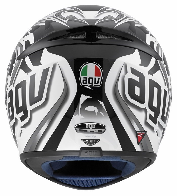 Agv Street Road K-3 Multi Wire helmet white gunmetal