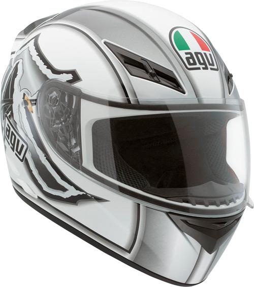 Agv K-3 Multi Katana full-face helmet white-gunemtal