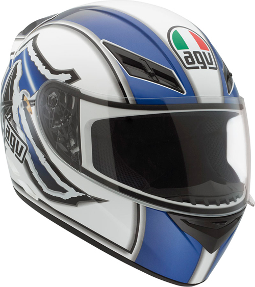 Casco moto Agv K-3 Multi Katana bianco-blu