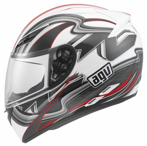 Agv K-3 Multi Chicane full-face helmet white-red