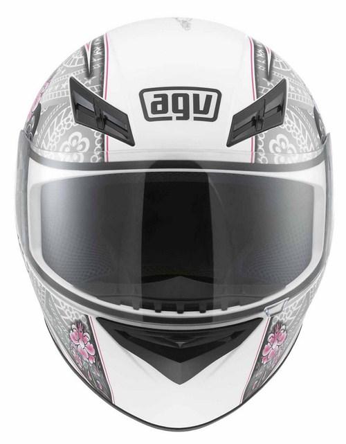 Casco moto Agv K-3 Multi Crew bianco-argento-rosa