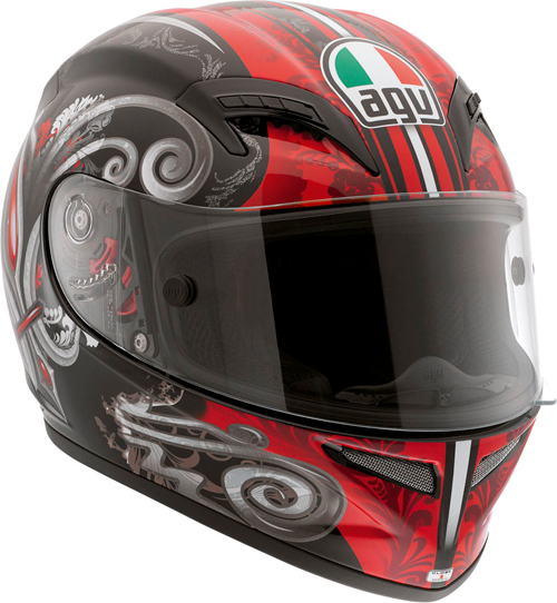 Agv Grid Multi Stigma full-face helmet black-red