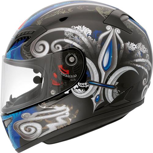 Agv Grid Multi Stigma full-face helmet black-blue