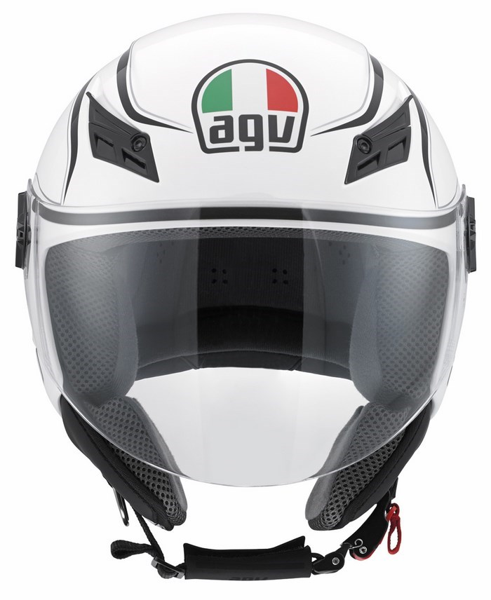 Casco moto Agv Blade Multi Tab bianco nero