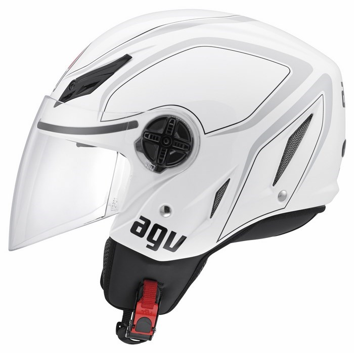 Agv City Blade Multi Tab helmet white grey