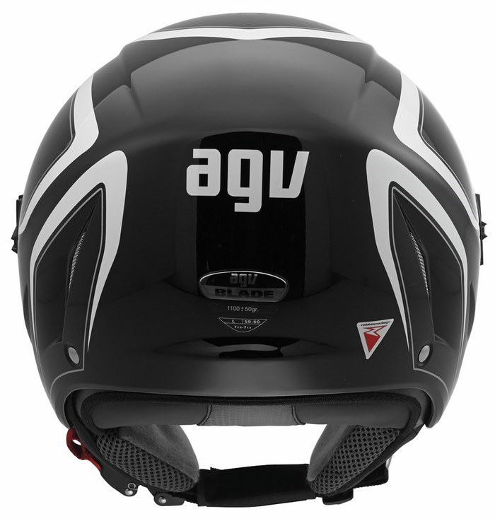 Casco moto Agv Blade Multi Tab nero-bianco
