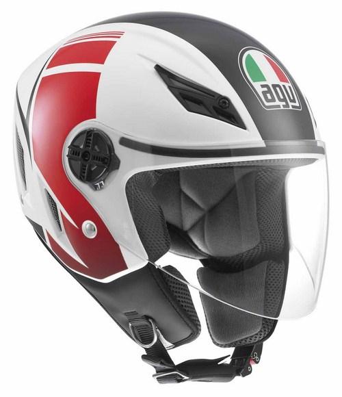 Agv Blade multi FX jet helmet white-red