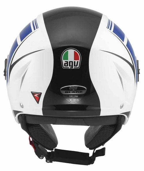 Agv Blade multi FX jet helmet white-blue