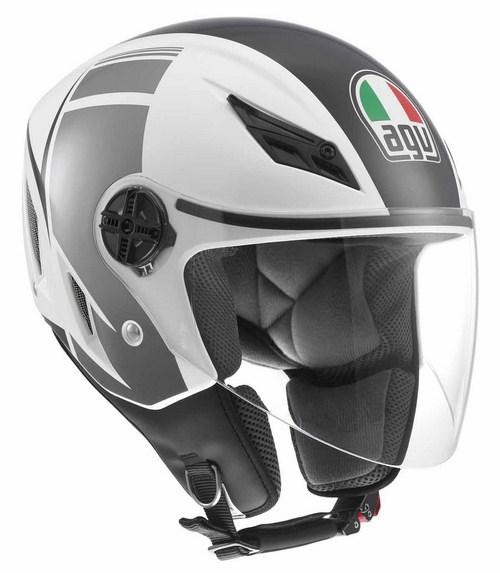 Agv Blade multi FX jet helmet white-gunmetal