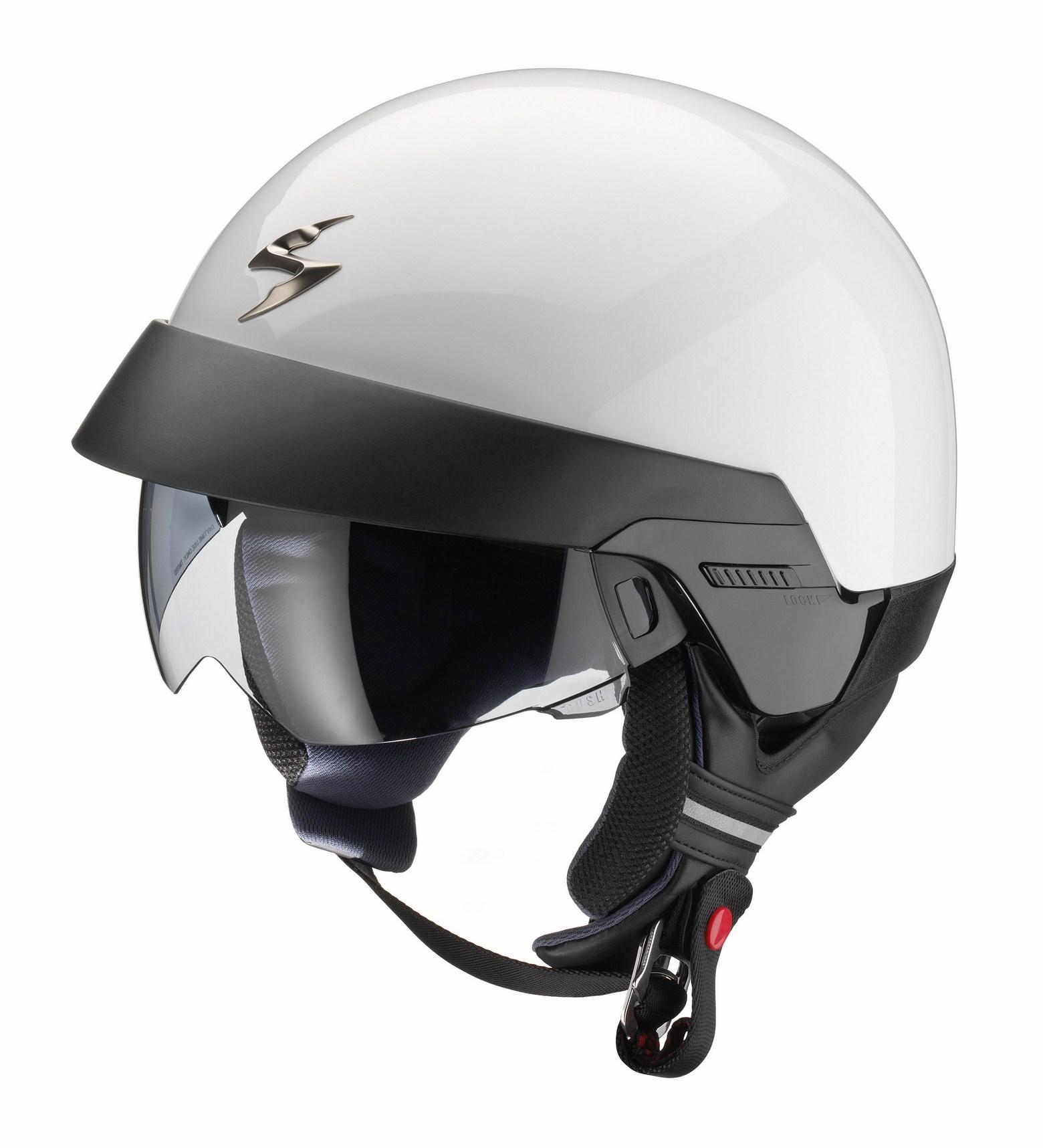 Scorpion Exo 100 jet helmet white