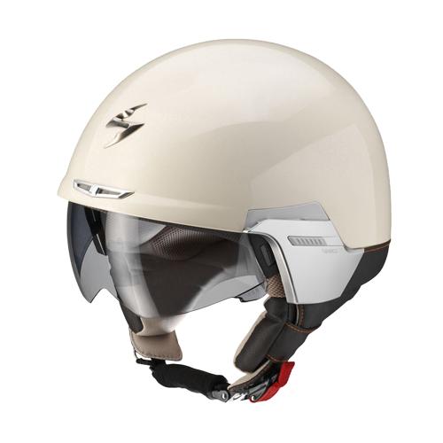 Scorpion Exo 100 Padova II jet helmet beige