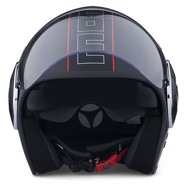 Jet Helmet Momo Design Mangusta Black Frost