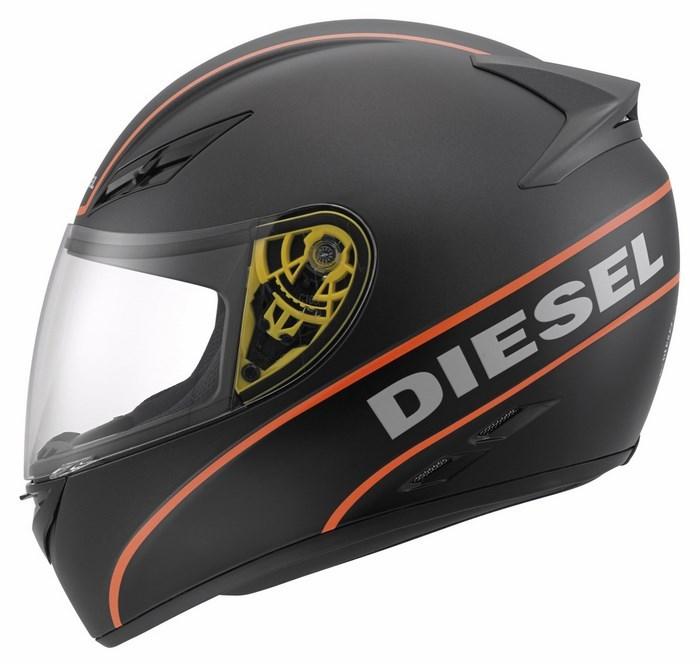 Diesel Full-Jack Multi helmet matt grey black orange