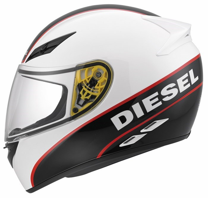 Diesel Full-Jack Multi white black red helmet
