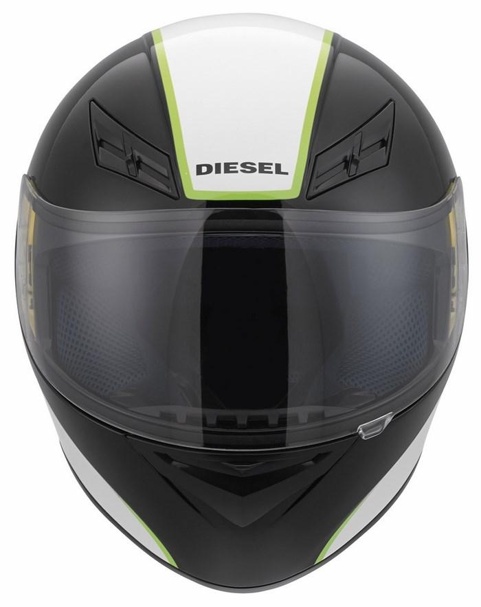 Diesel Full-Jack Multi black white green helmet