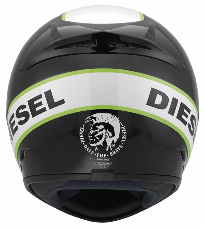 Casco moto Diesel Full-Jack Multi nero bianco verde
