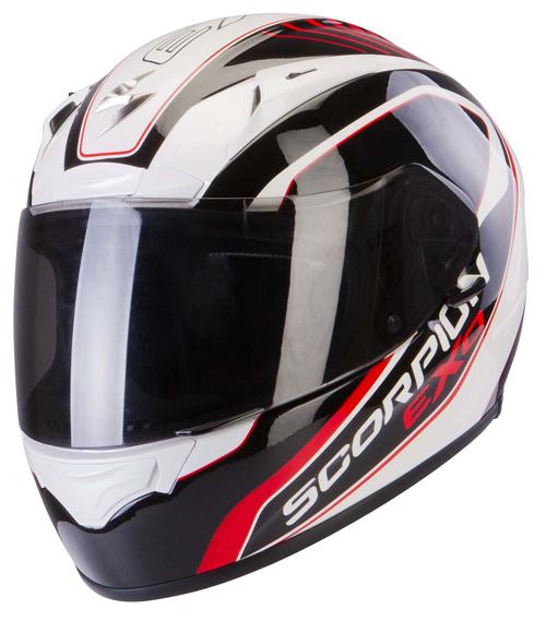 Scorpion Exo 2000 Air Performer full face helmet White Black Red