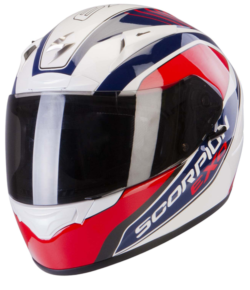 Scorpion Exo 2000 Air Performer full face helmet White Blue Red