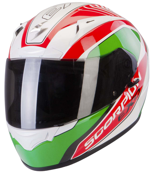 Scorpion Exo 2000 Air Performer full face helmet White Green Red
