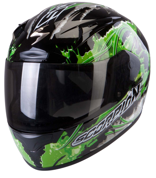 Casco integrale Scorpion Exo 2000 Air Powergy Nero Verde