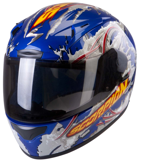 Scorpion Exo 2000 Air Powergy full face helmet Metal Blue Grey