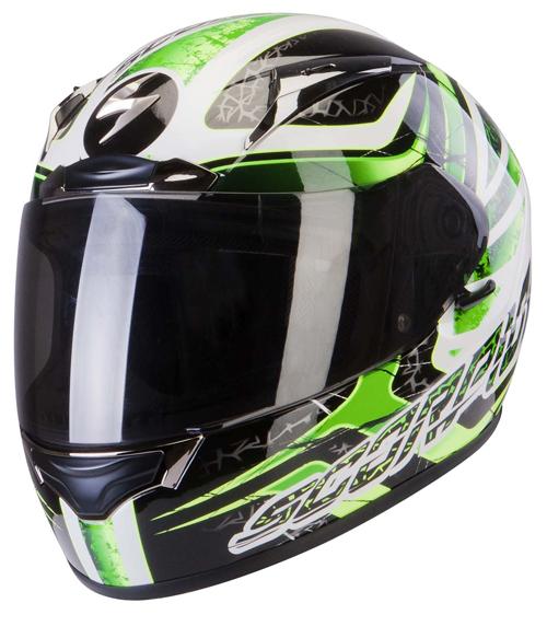 Scorpion Exo 2000 Air Shifter full face helmet Black Green