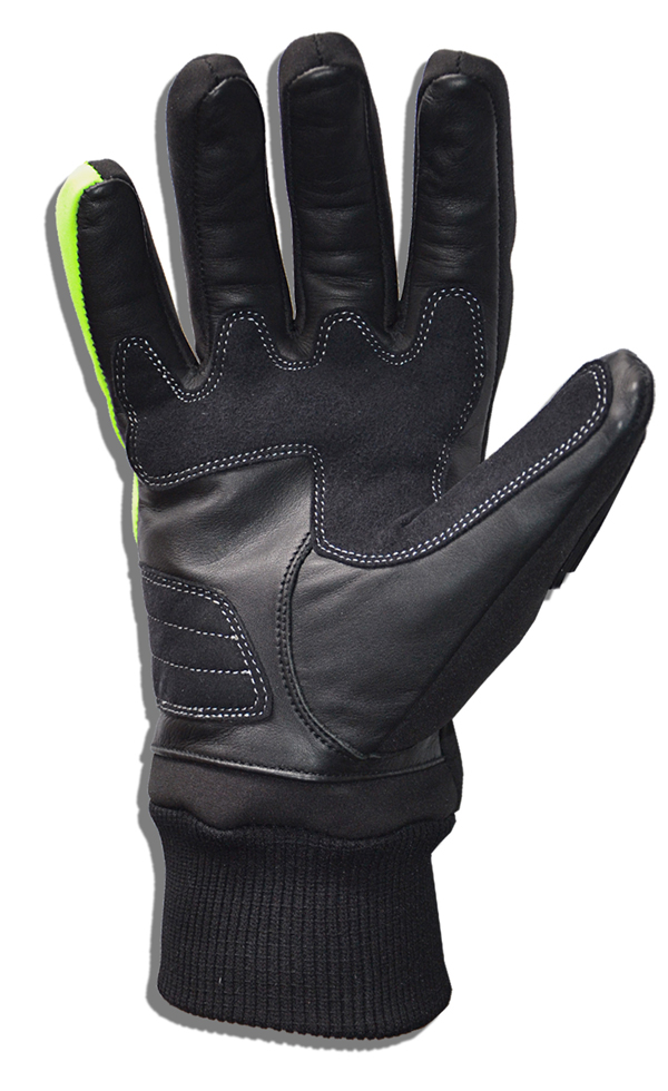 Softshell Gloves Black Yellow fluo Jollisport Span