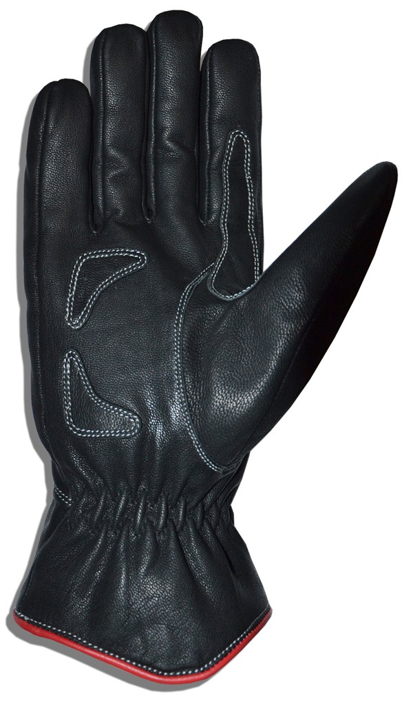 Motorcycle Gloves Leather Glove Black T-Jollisport