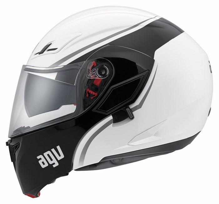 Agv GT Compact Multi Course helmet white gunmetal