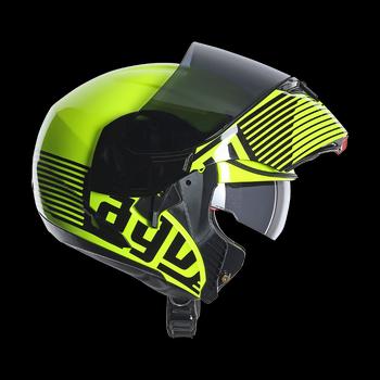 Agv GT Compact Multi Audax full face fluorescent yellow gunmetal
