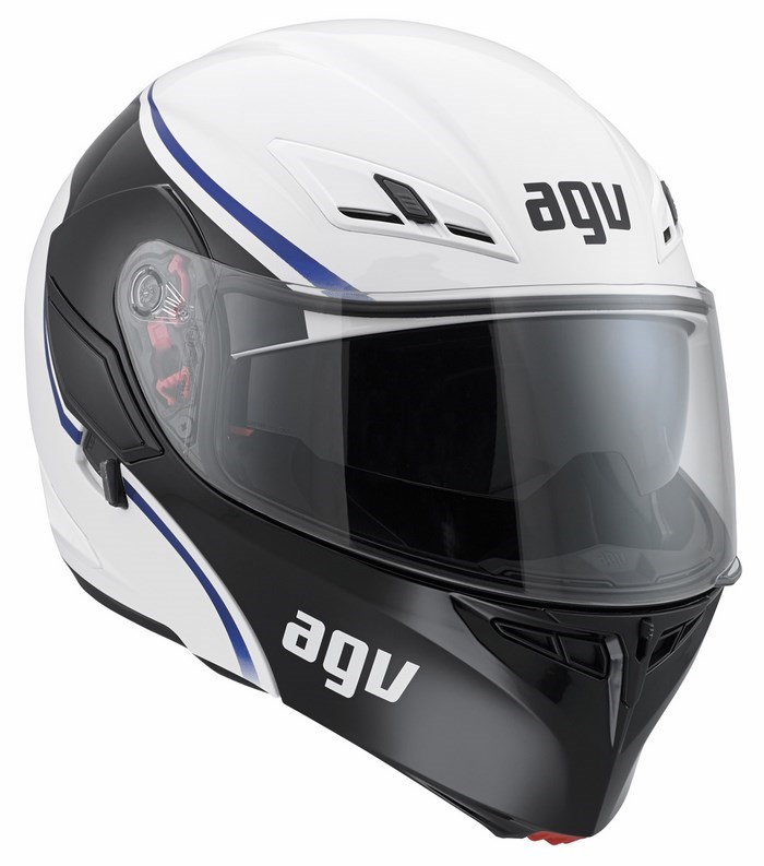 Agv GT Compact Multi Course helmet white blue