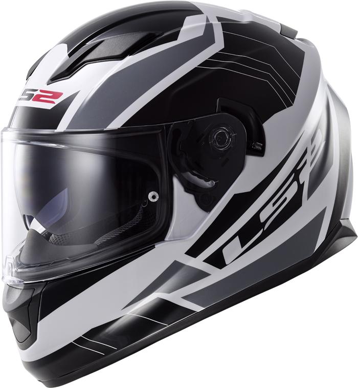LS2 FF320 Stream Omega full face helmet White Black Titanium