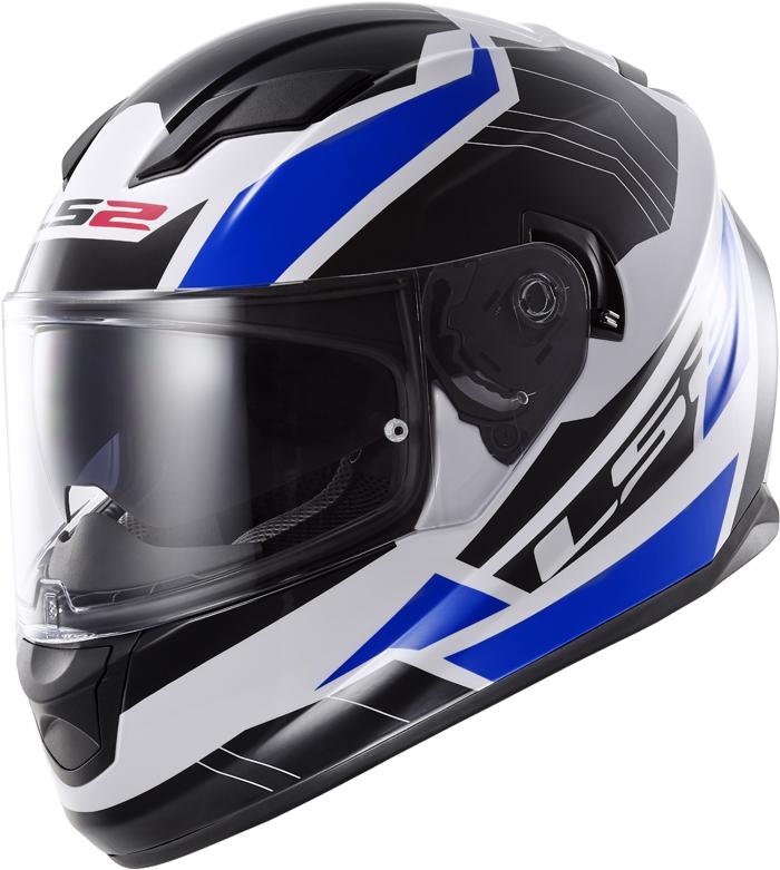 LS2 FF320 Stream Omega full face helmet White Black Blue