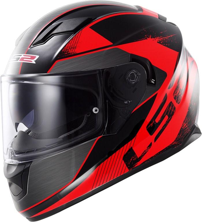 LS2 FF320 Stream Stinger full face helmet Black Red
