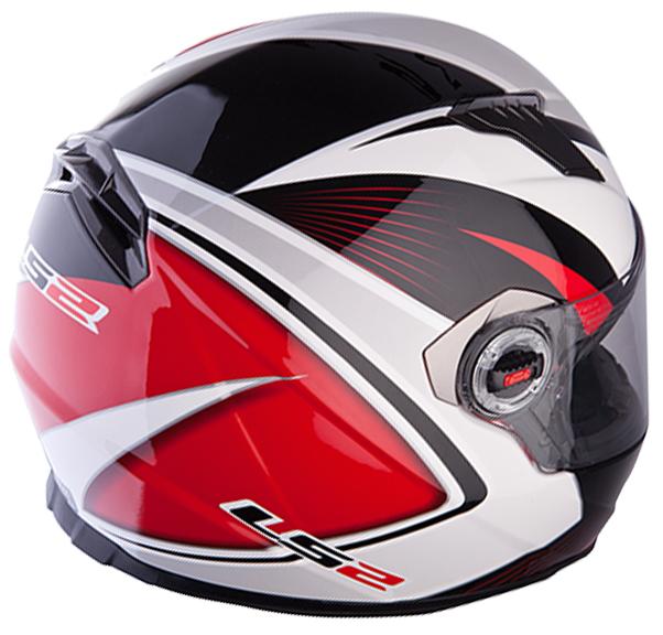 Casco integrale LS2 FF322 Corsa Bianco Rosso