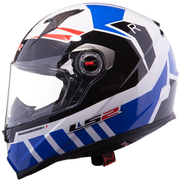 Casco integrale LS2 FF322 Voltage Bianco Blu